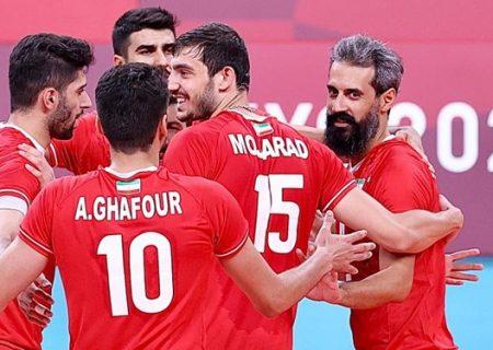 دومین پیروزی والیبال ایران دشت شد