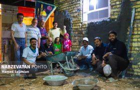 ساخت  منزل مسکونی توسط گروههای جهادی در اُشیان